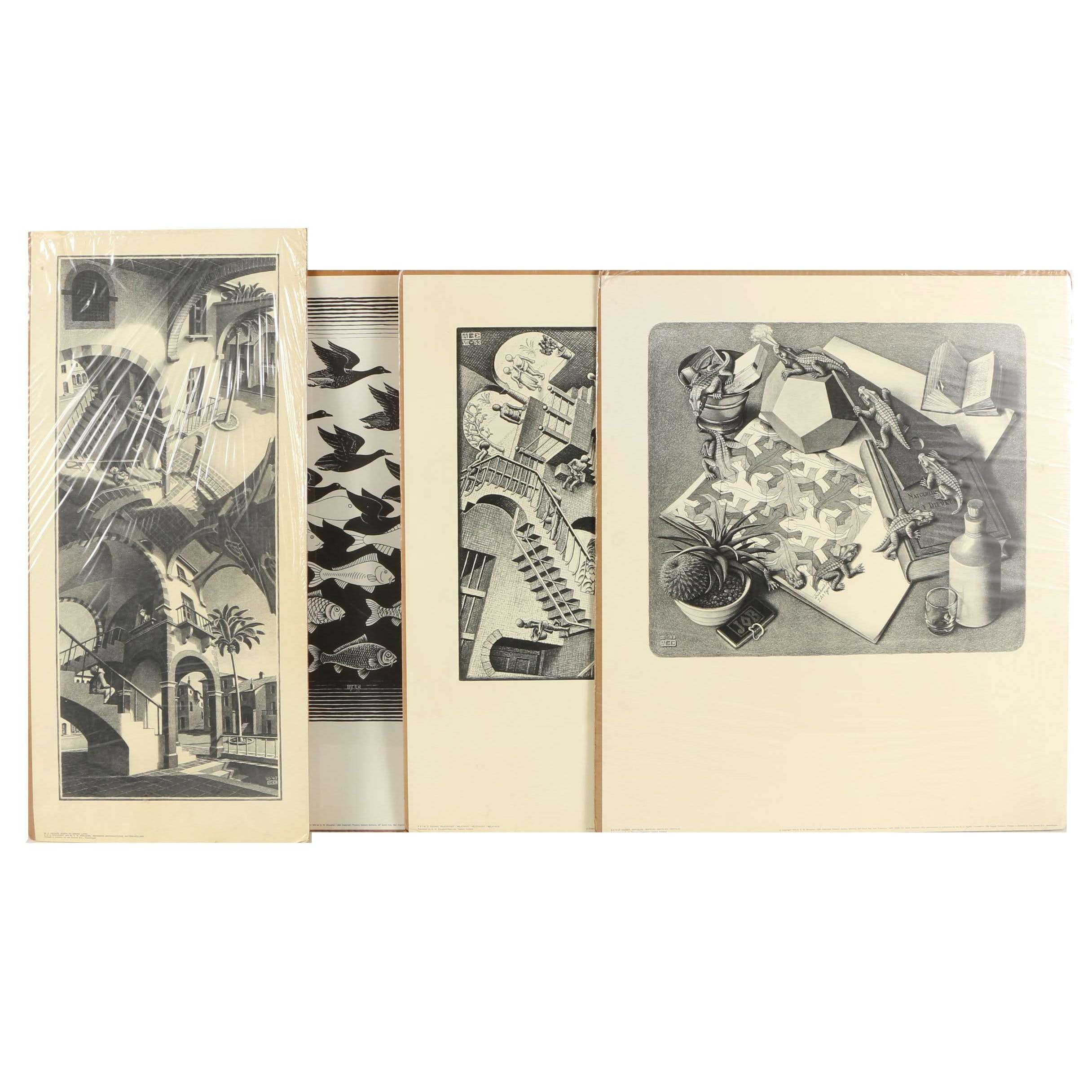 Collection of Offset Lithographs on Paper after M.C. Escher