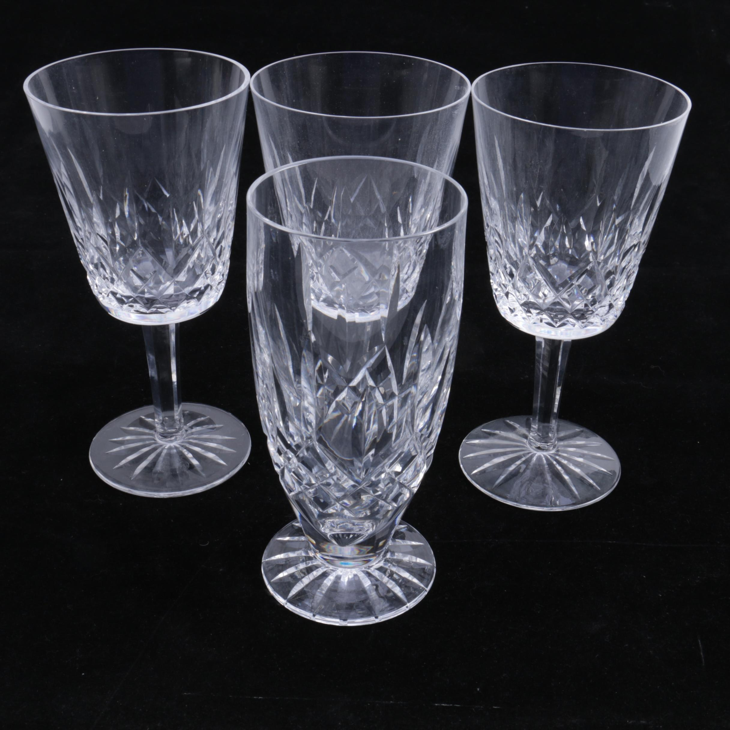 "Waterford Crystal ""Lismore"" Goblets and Iced Tea Glass"