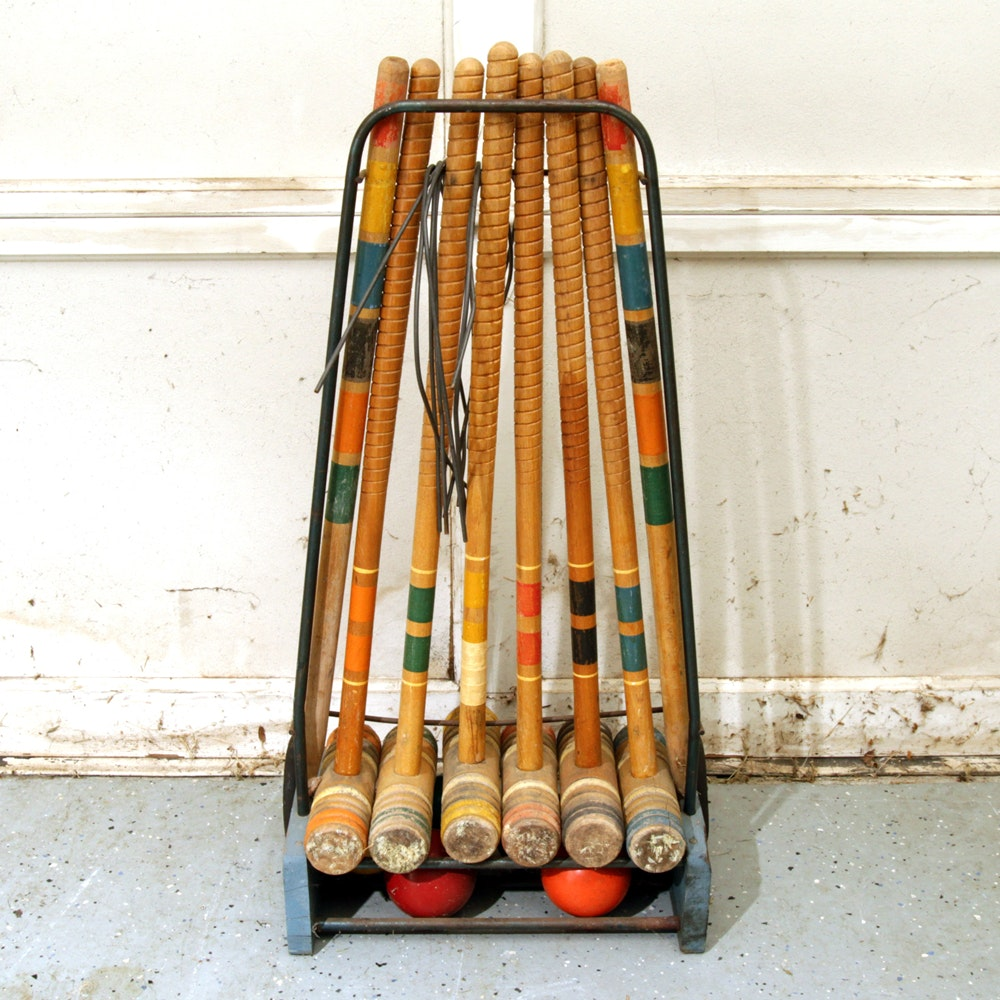 Croquet Set and Caddy