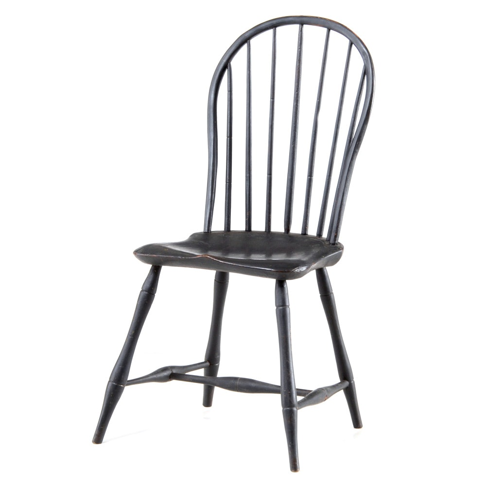 Vintage Black Windsor Style Chair