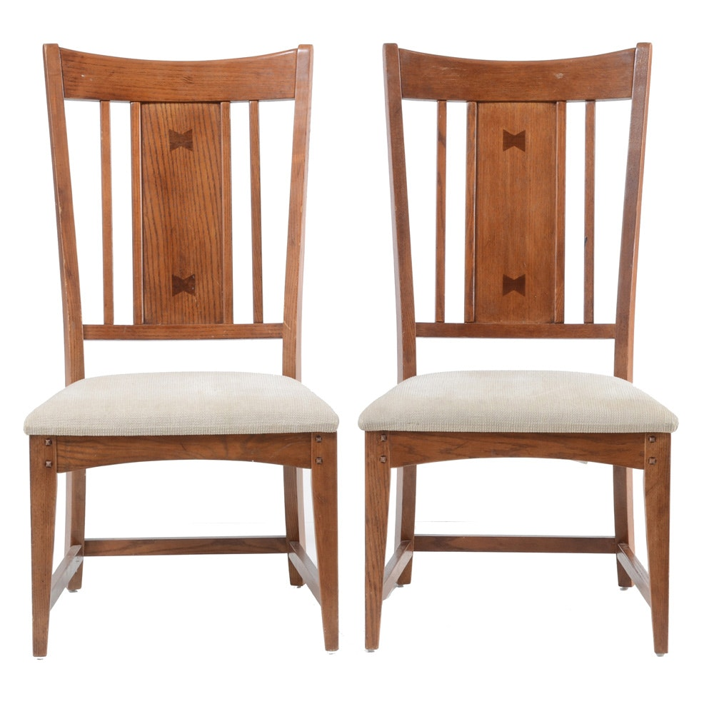 Pairing of Mission Style Side Chairs