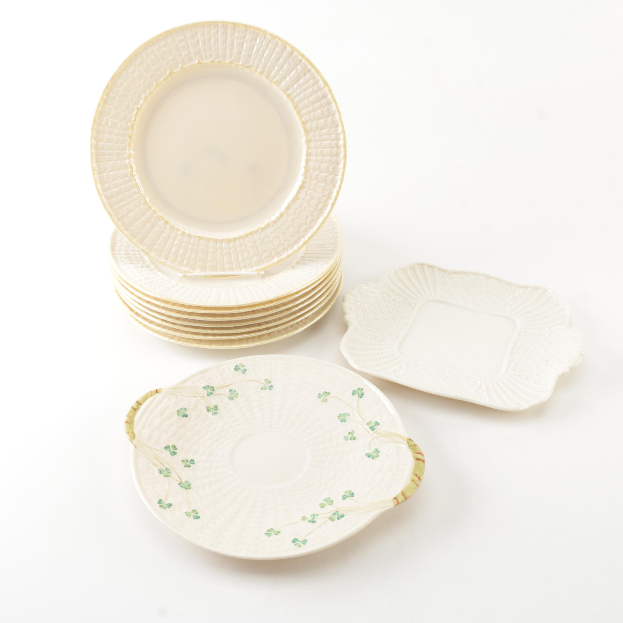 "Belleek ""Limpet Yellow"" and Lenox ""Washington Wakefield"" Porcelain Tableware"