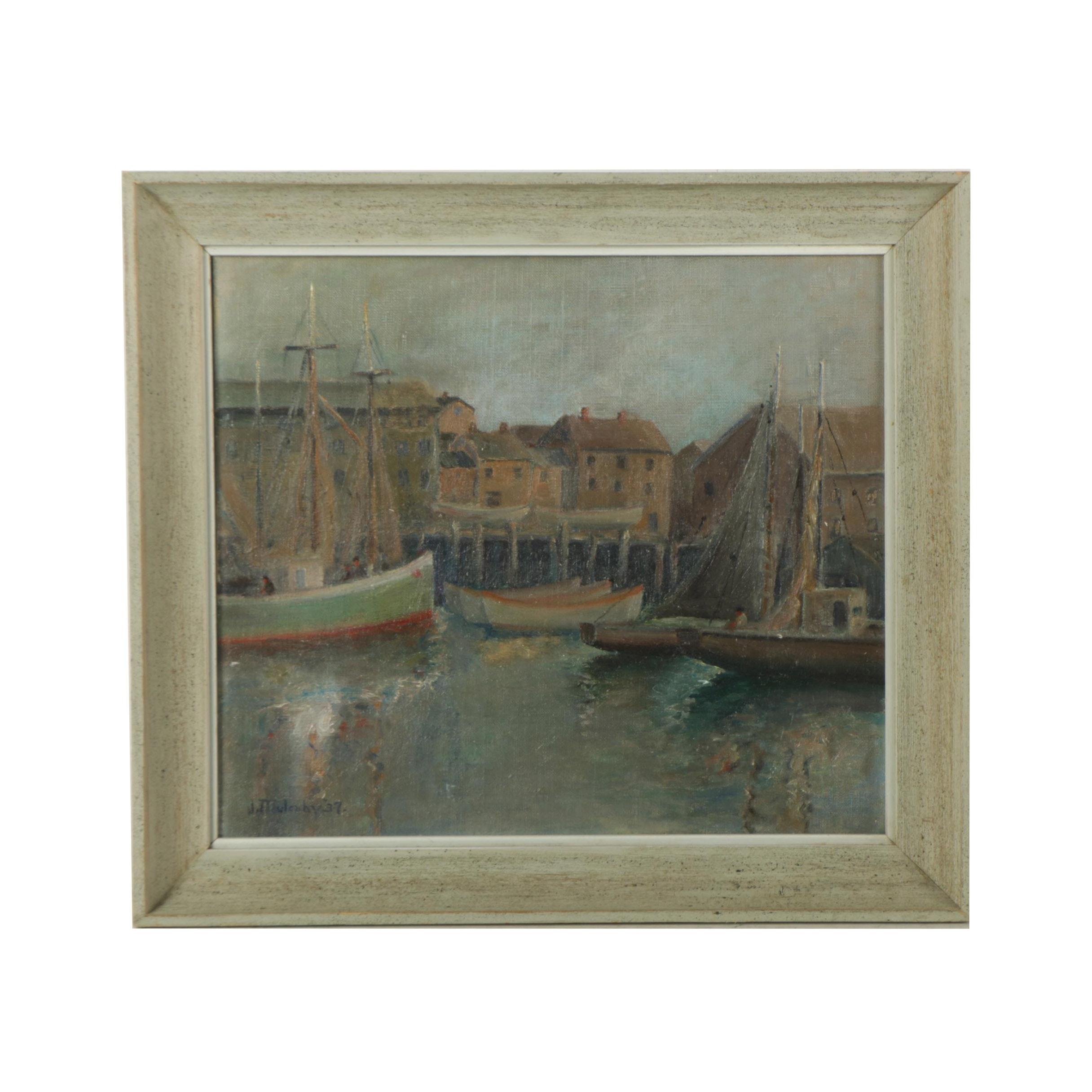 Joseph Mulcahy 1937 Oil Painting on Canvas