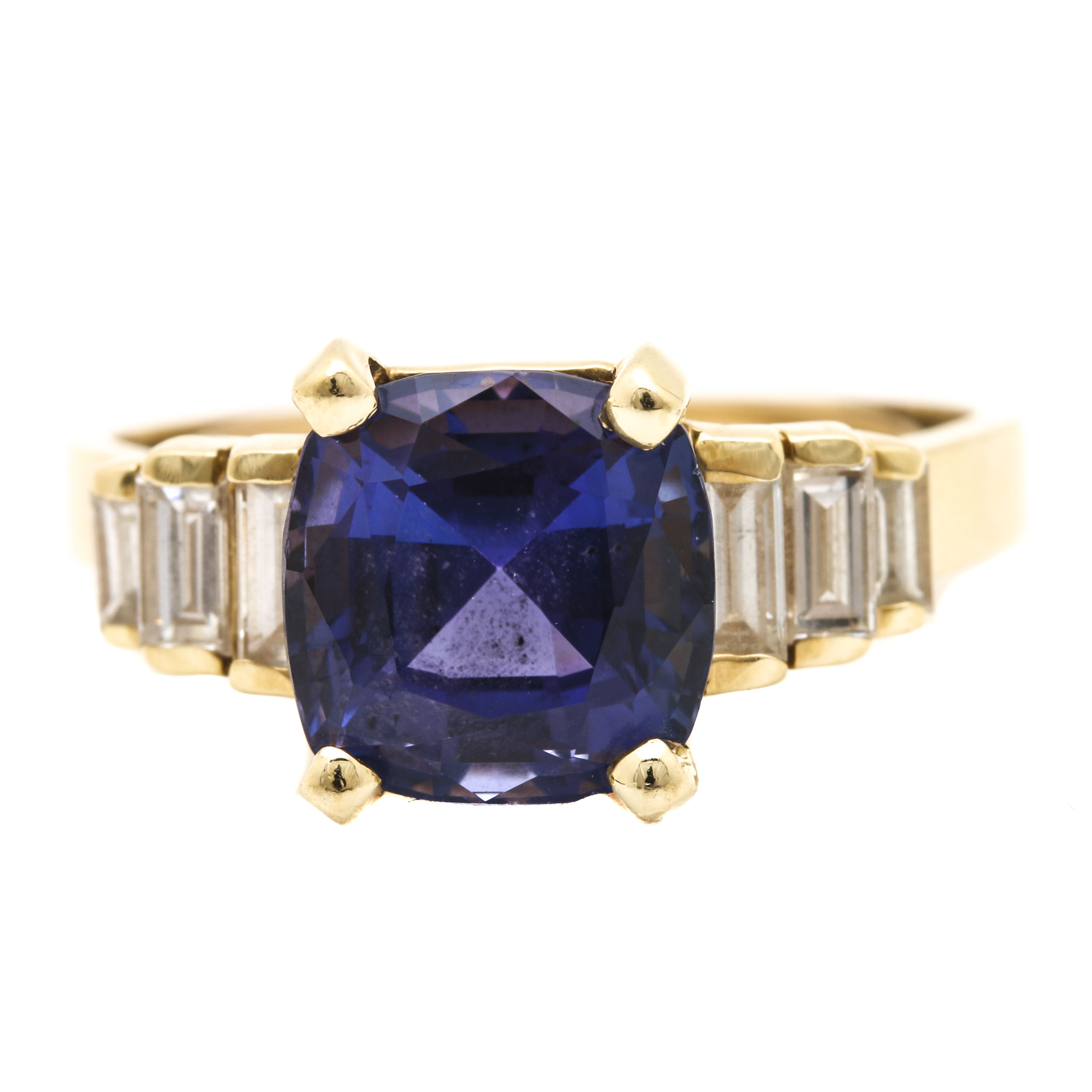 Le Vian 14K Yellow Gold 3.44 CT Tanzanite and Diamond Ring