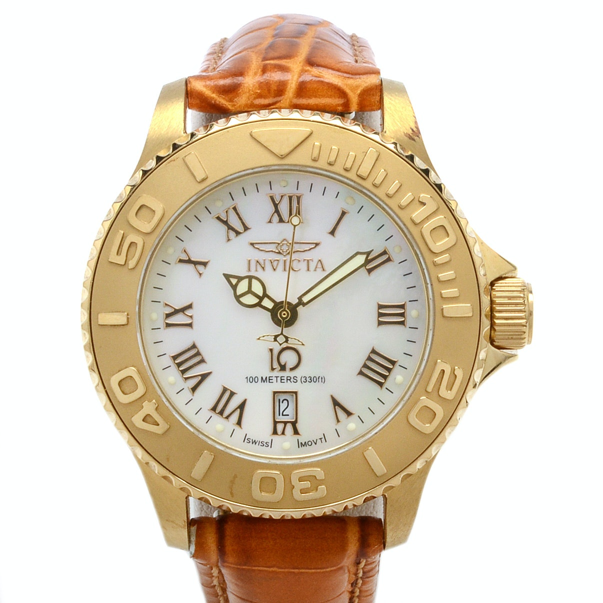 Invicta Wildflower Wristwatch With Leather Band