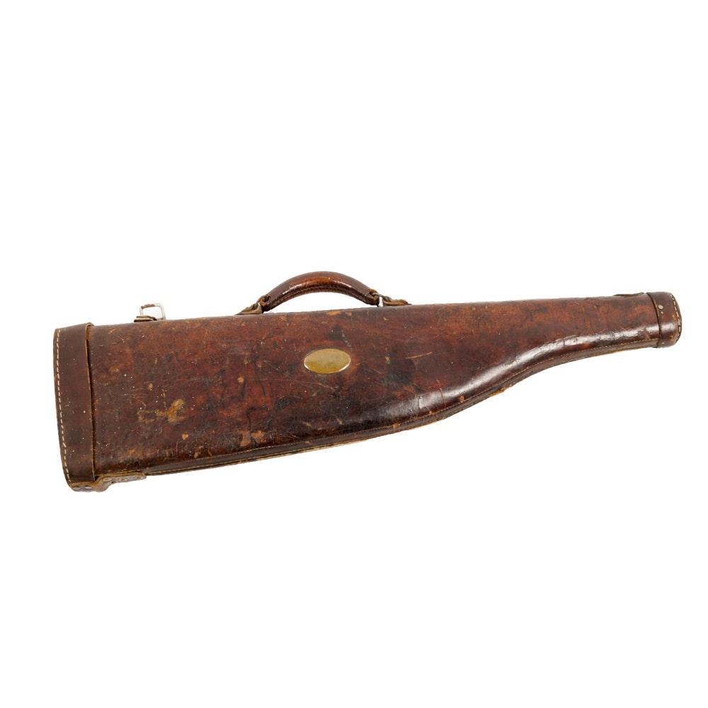 Vintage Leather Gun Scabbard