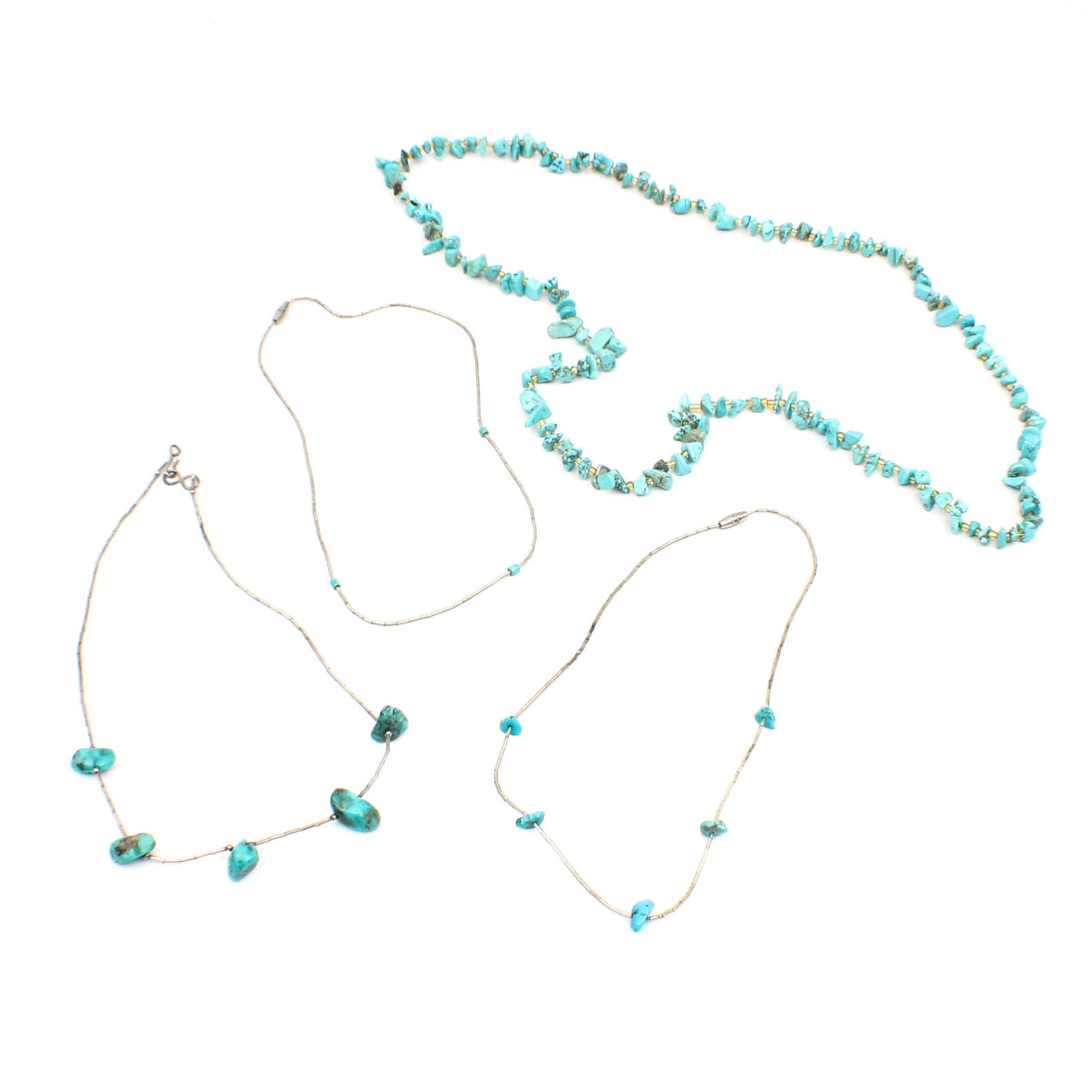 Sterling Silver Turquoise Beaded Necklaces