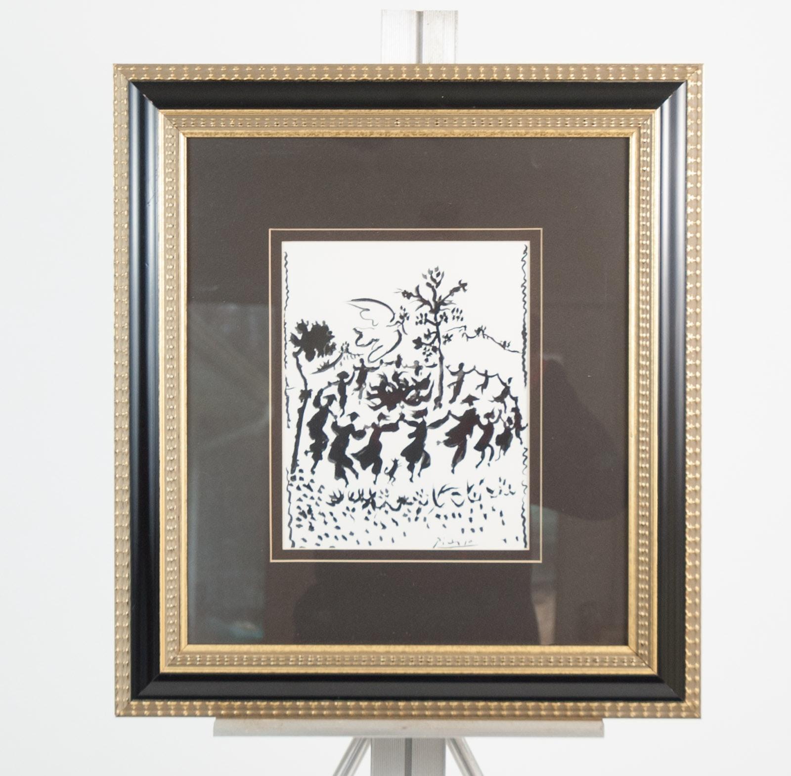 "Framed Print After Picasso's ""Vive la Paix"""