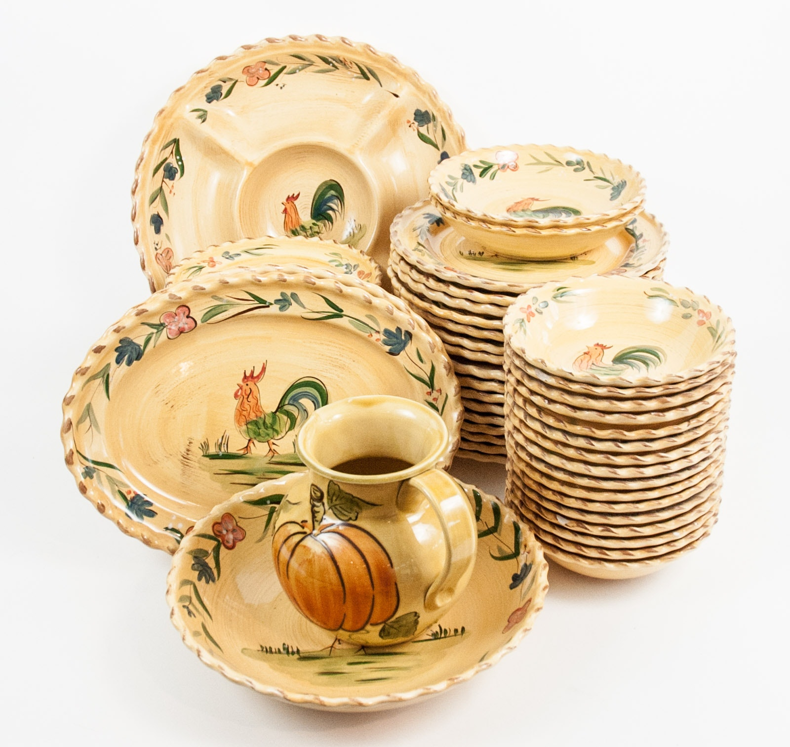 Rooster Themed Ceramic Tableware