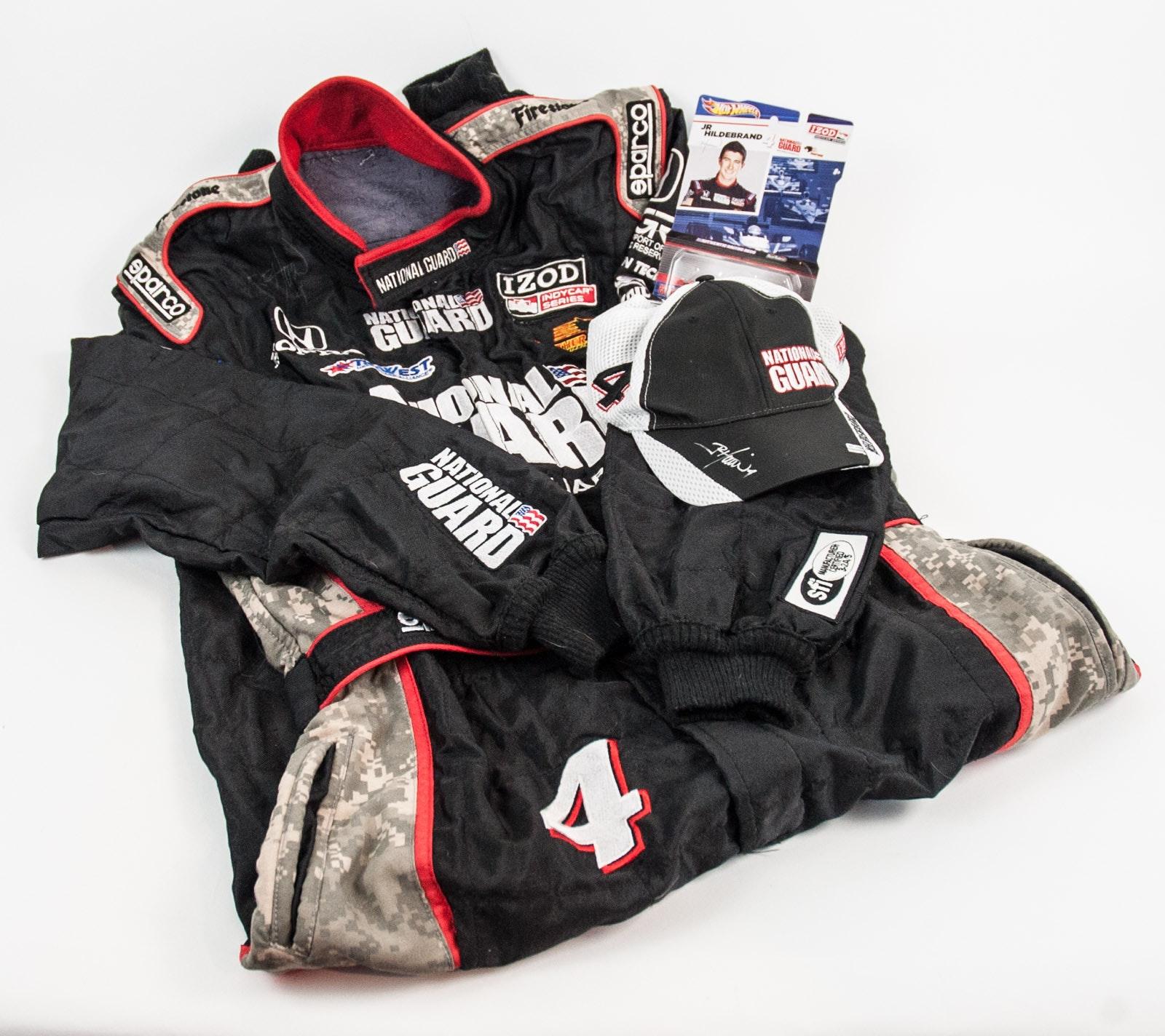 Autographed J. R. Hildebrand Racing Suit