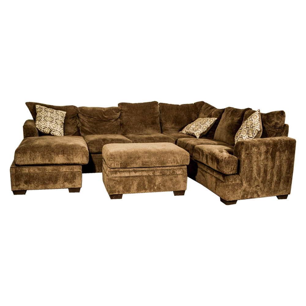 Multi-Piece Sectional Sofa with Ottoman