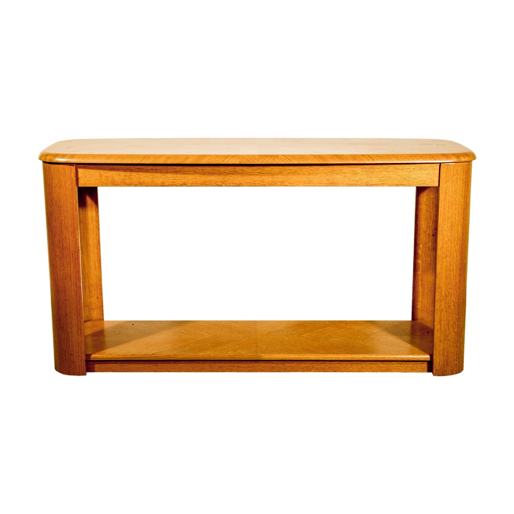 Oak Veneer Sofa Table
