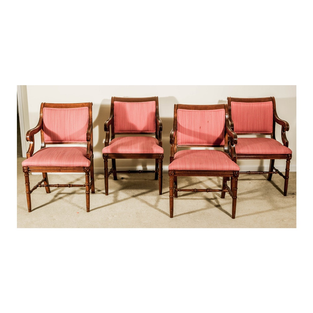 Four Regency Style Arm Chairs