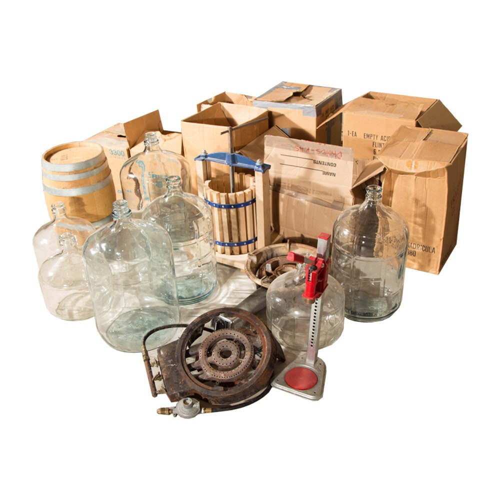 Assortment of Wine Making/Brewing Equipment