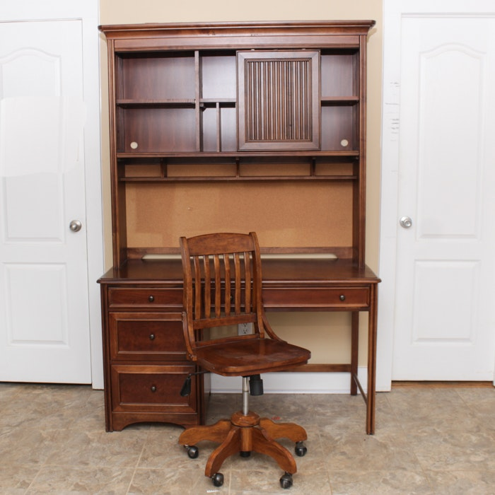 Student Desk with Bookcase and Chair by Young America