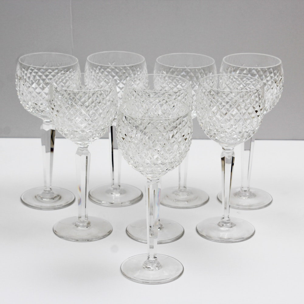 "Waterford Crystal ""Alana"" Hock Wine Glasses"