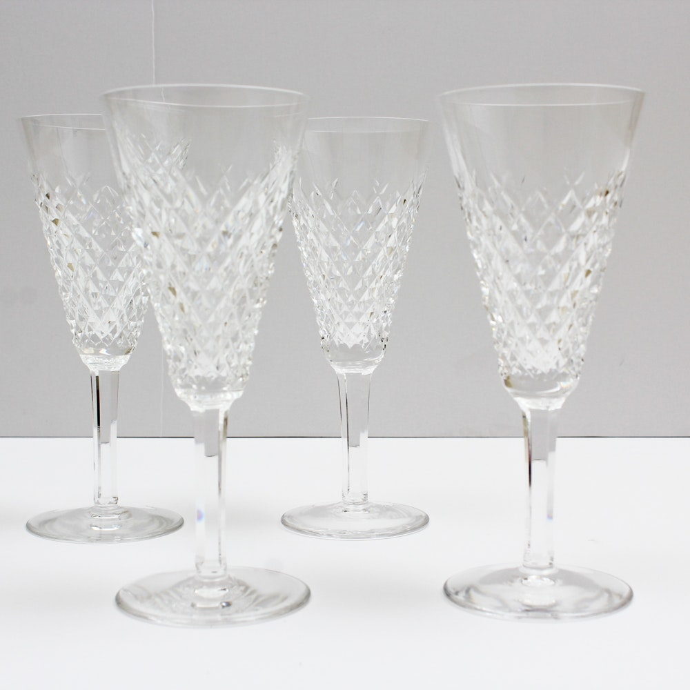"Waterford Crystal ""Alana"" Fluted Champagne Stems"
