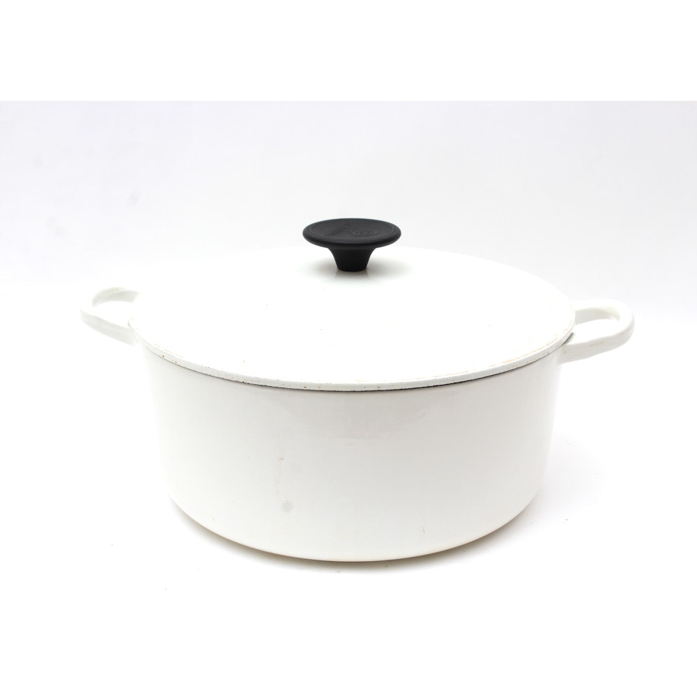 Le Creuset White Enamel Dutch Oven