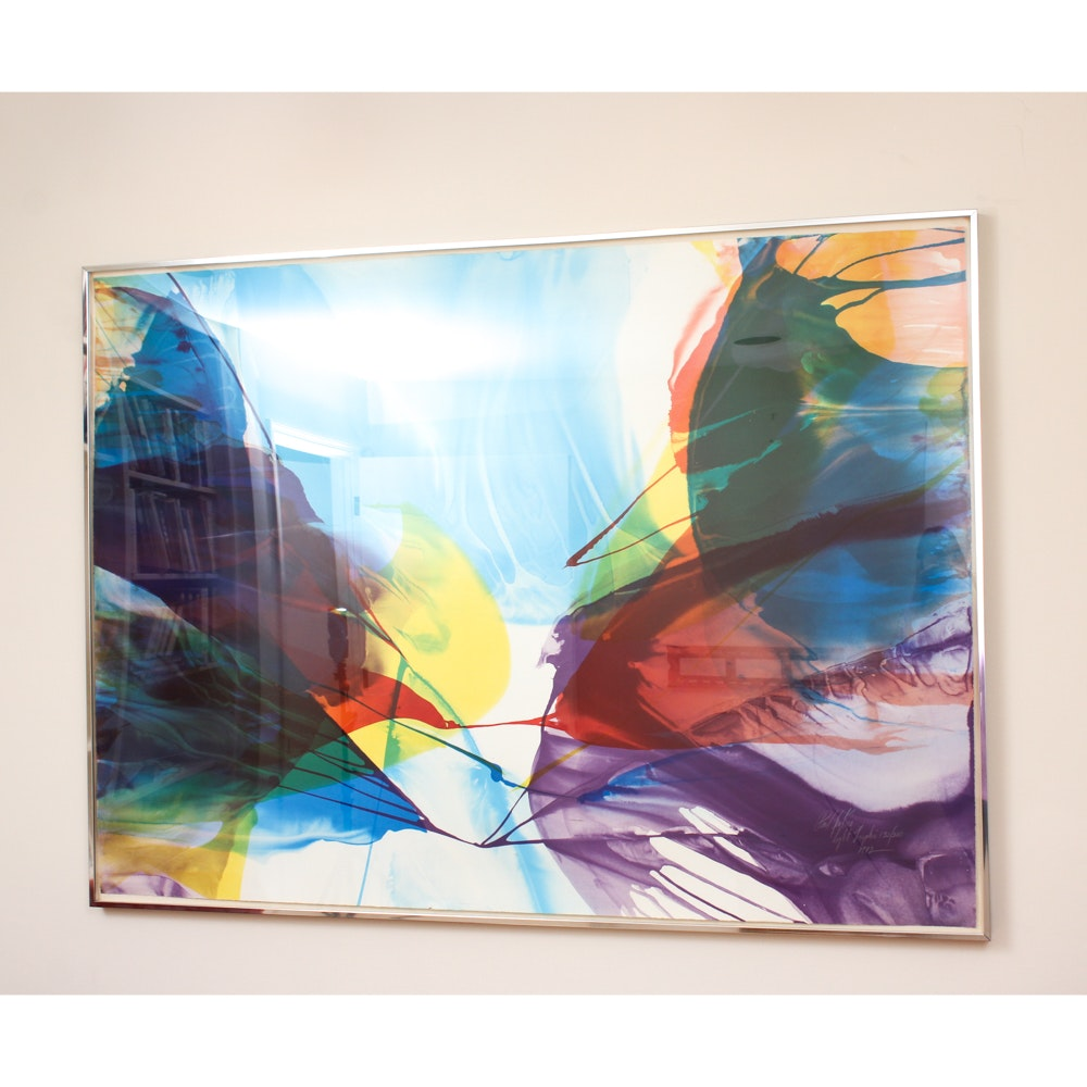 "Paul Jenkins Signed Lithograph ""Light Graphic"""