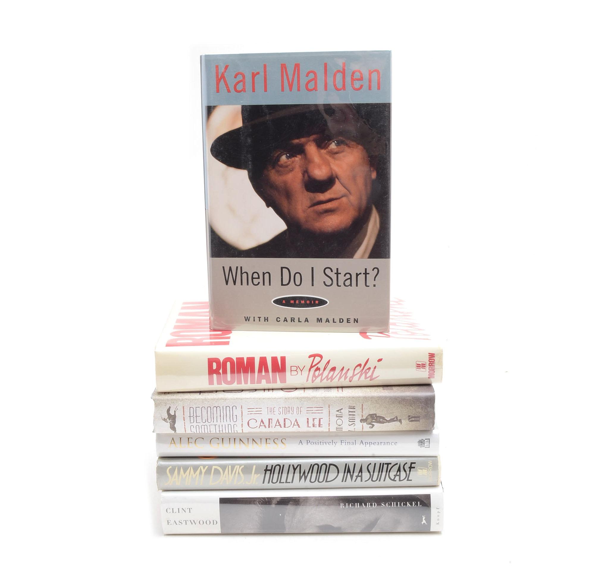 Signed Classic Hollywood Memoirs including Eastwood, Davis Jr. and Polanski