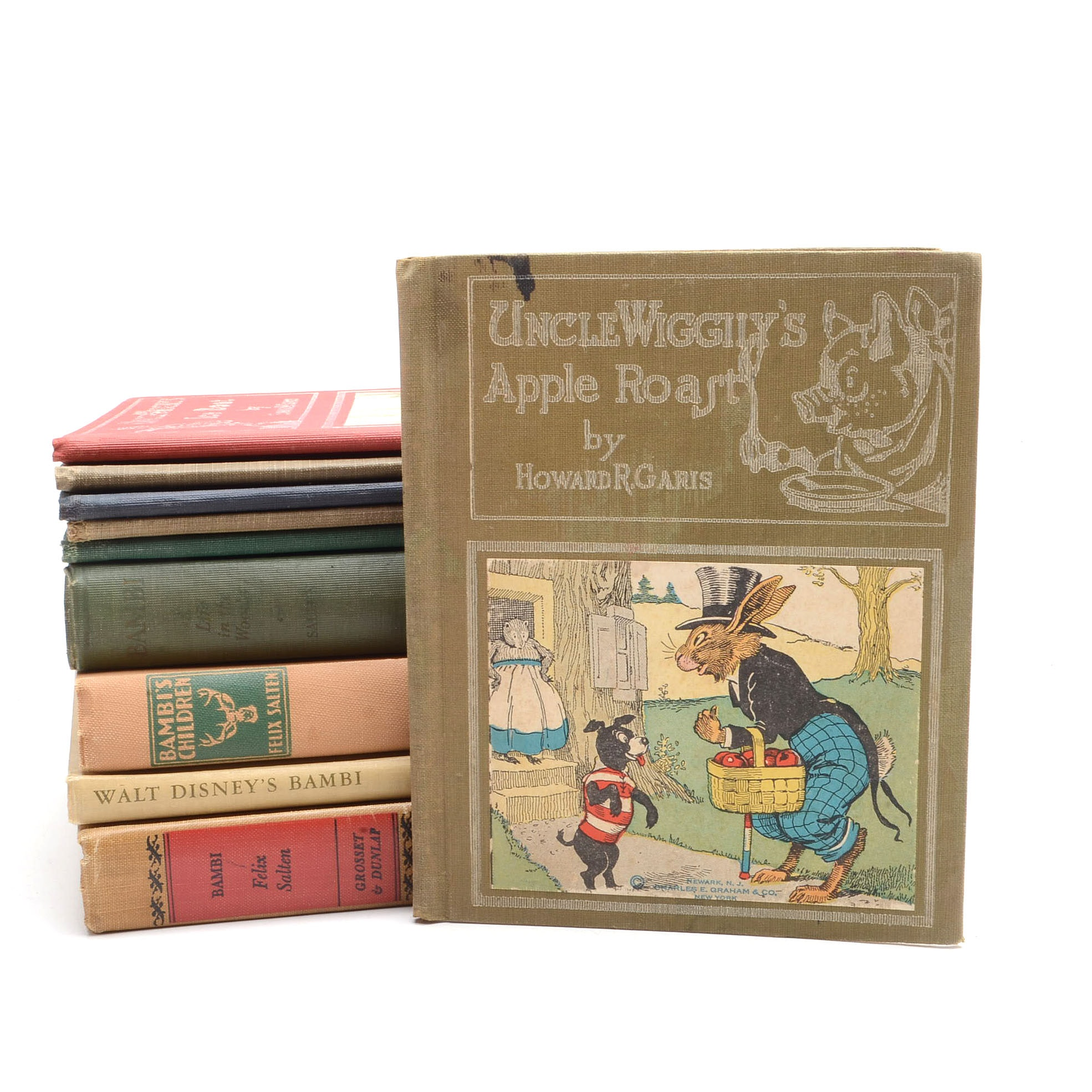 """Group of Children's Books Including """"Uncle Wiggly"""" and """"Bambi"""" Series"""