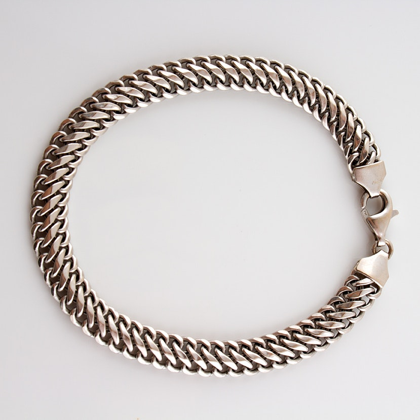 14K White Gold Milor Chain Bracelet