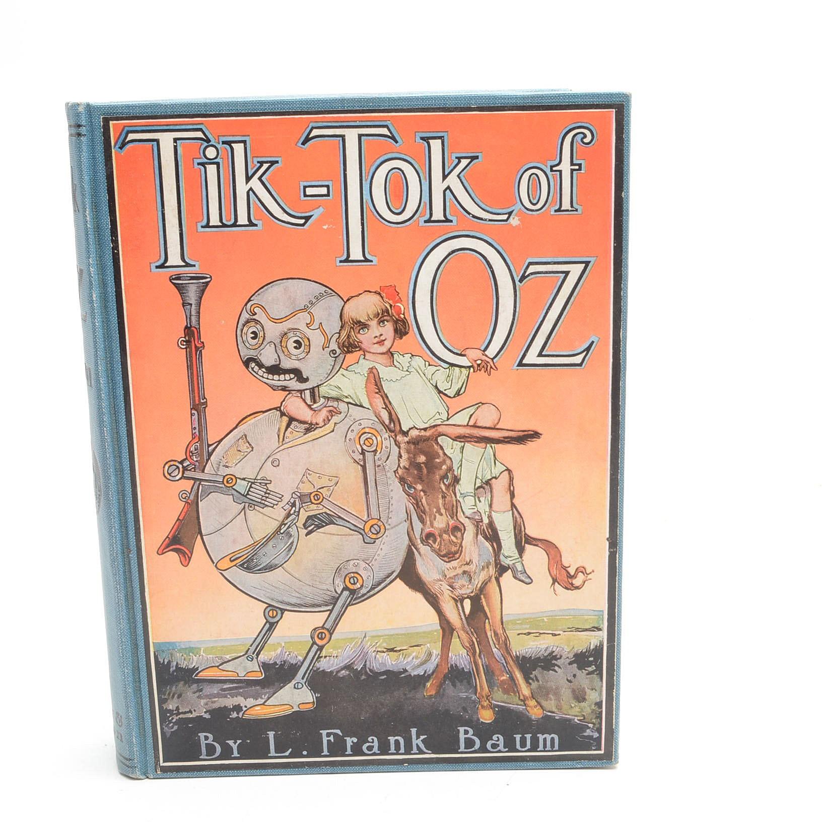"Circa 1920 Edition of ""Tik-Tok of Oz"" by L. Frank Baum"