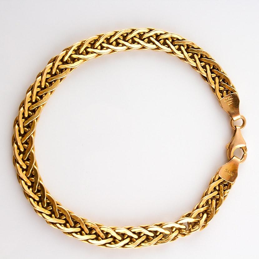 14K Yellow Gold Milor Robe Chain Bracelet