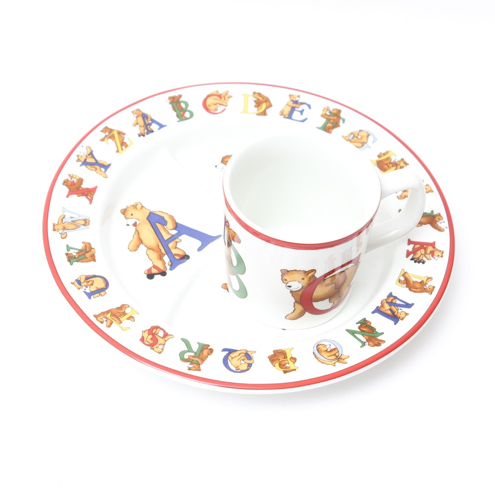 "Tiffany & Co. ""Alphabet Bears"" Plate and Mug"