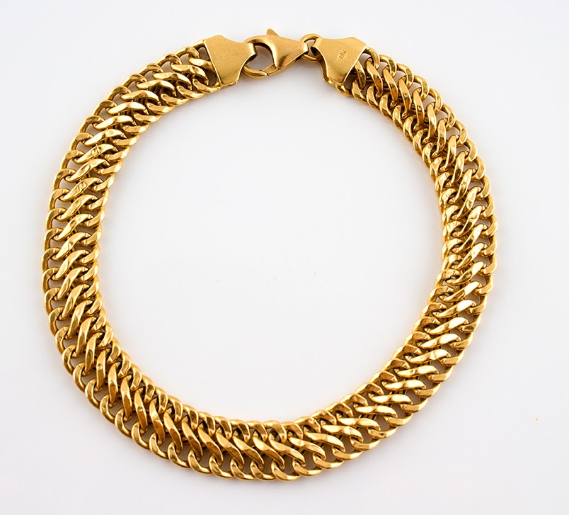 18K Yellow Gold Milor Chain Link Bracelet