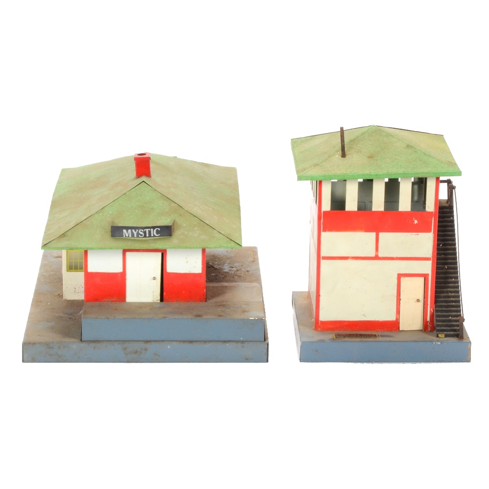 AC Gilbert S-Gauge Model Train Buildings