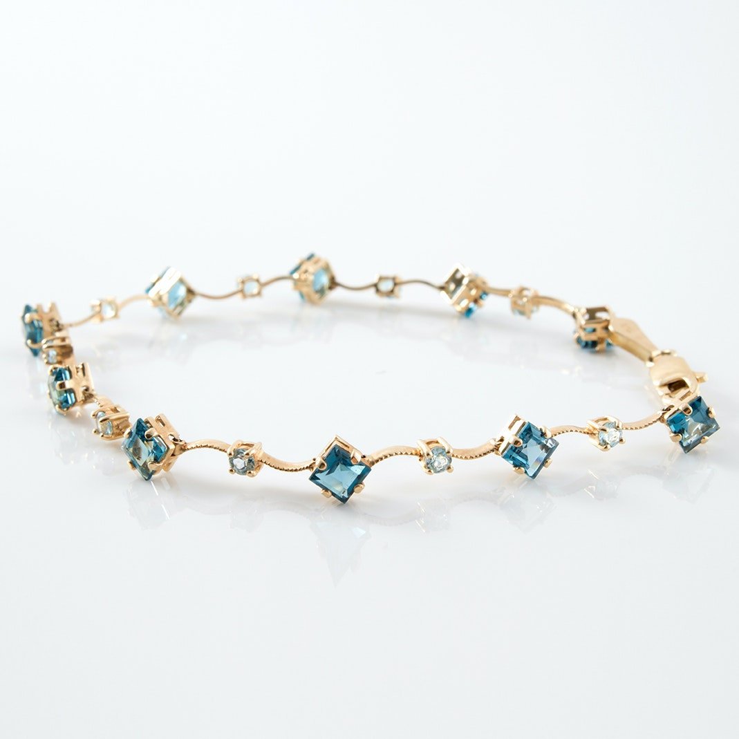 14K Yellow Gold Spinel Bracelet