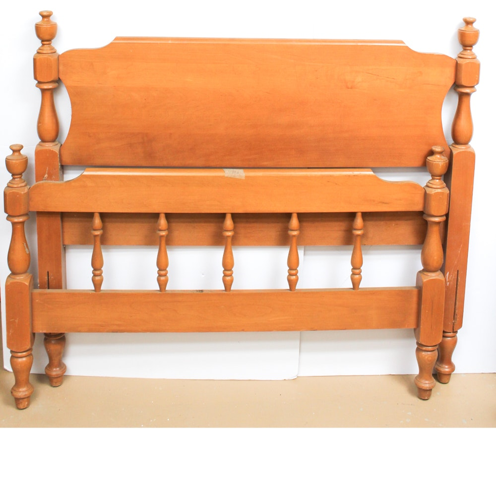 Vintage Twin Wood Bed