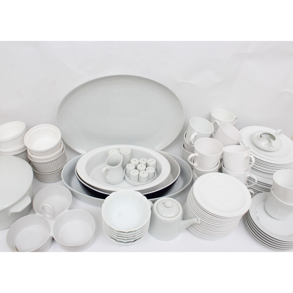 Assortment of Whiteware Tableware, Kitchenware and Tools