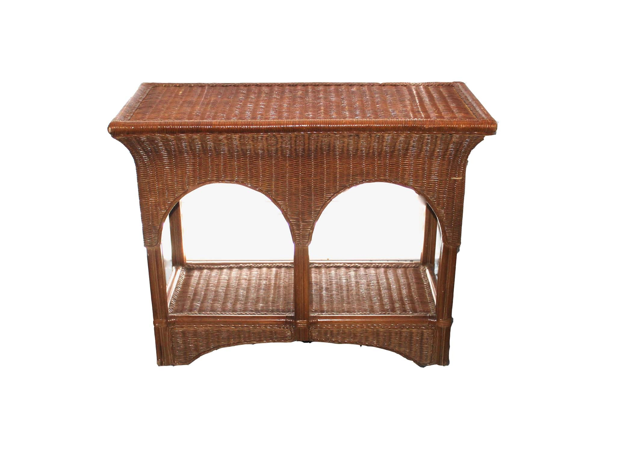 Wicker Accent Table