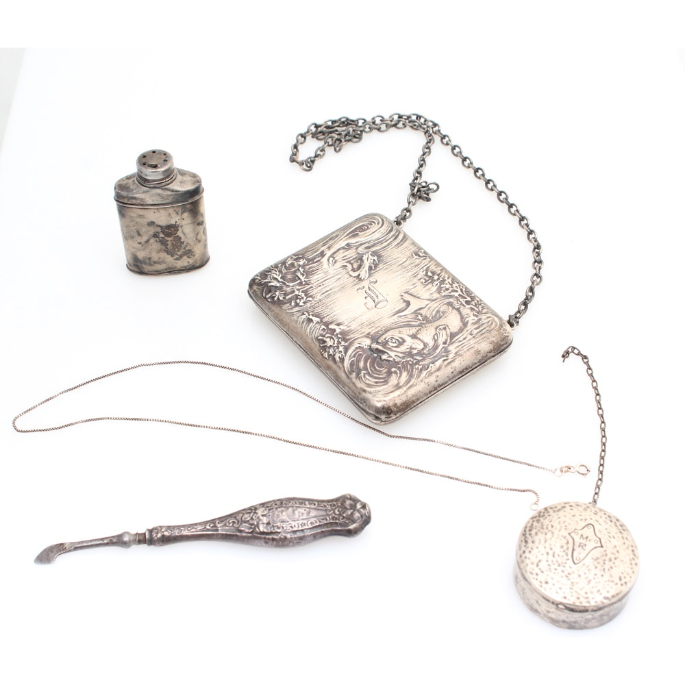 Antique Sterling Silver Vanity Collection