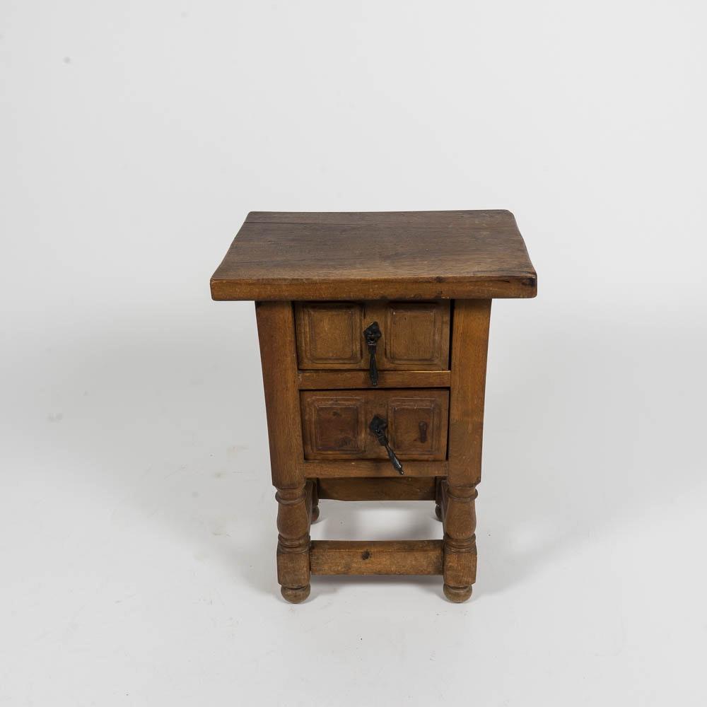 English Walnut Renaissance Revival Style Side Table