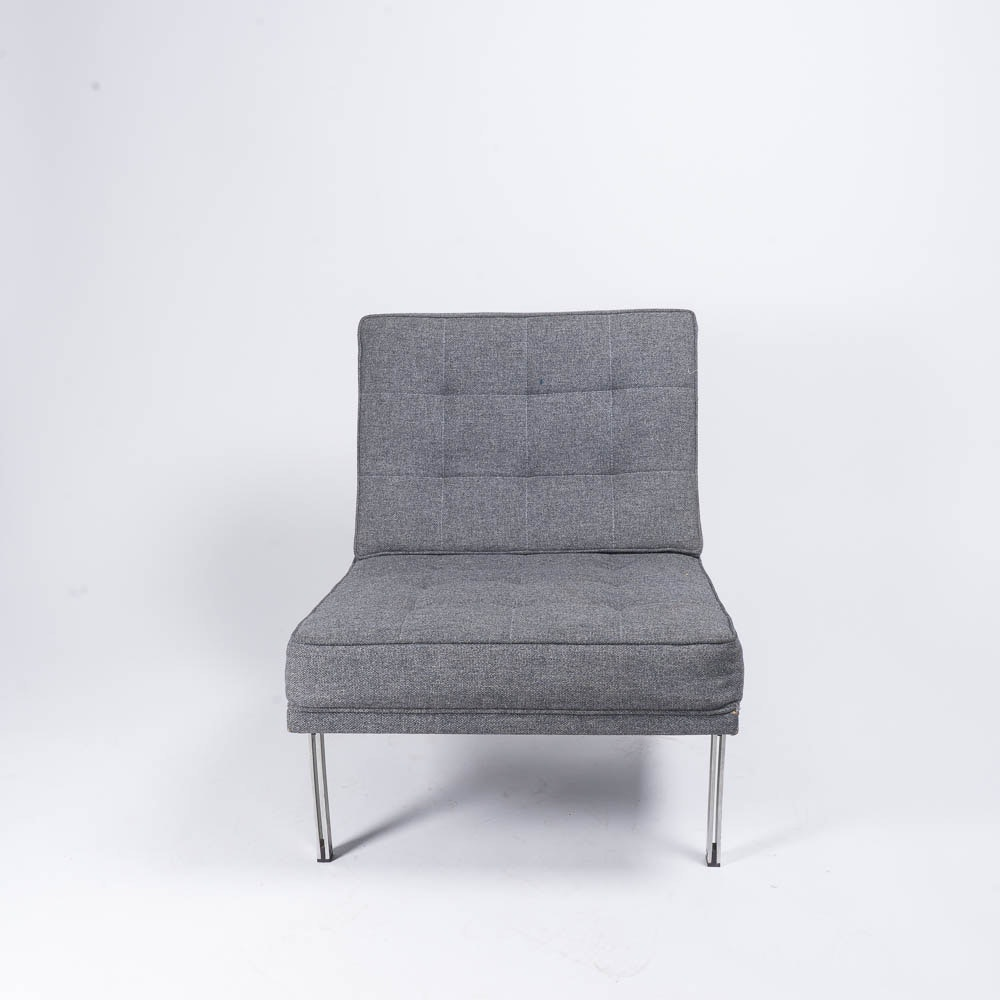 Vintage Modernica Gray Upholstered Lounge Chair