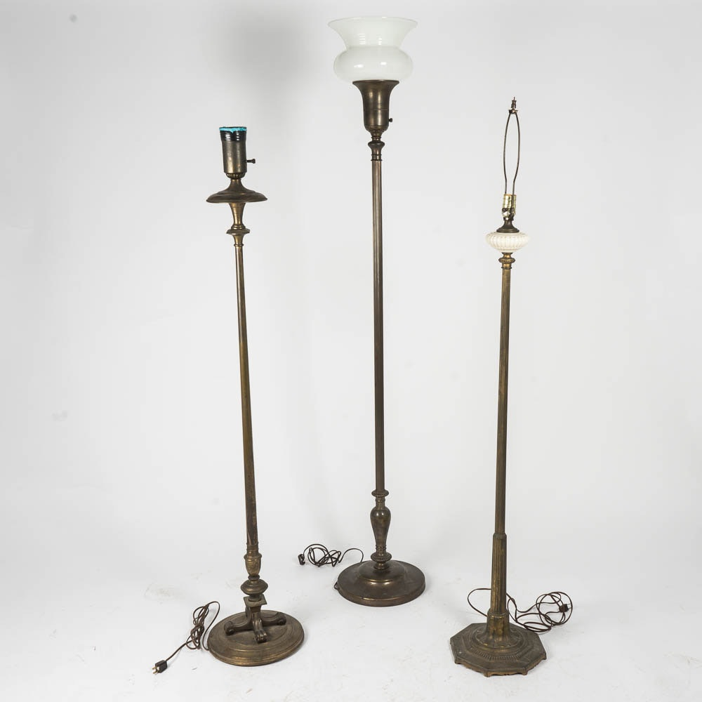 Vintage Brass Floor Lamps