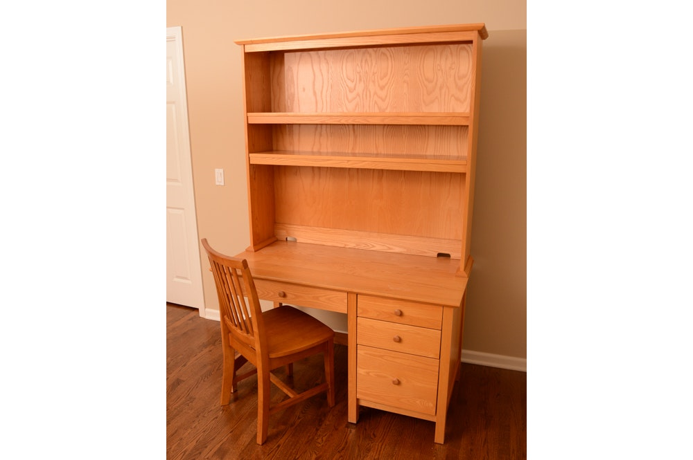 Wooden Desk with Hutch and Chair by Pottery Barn Kids
