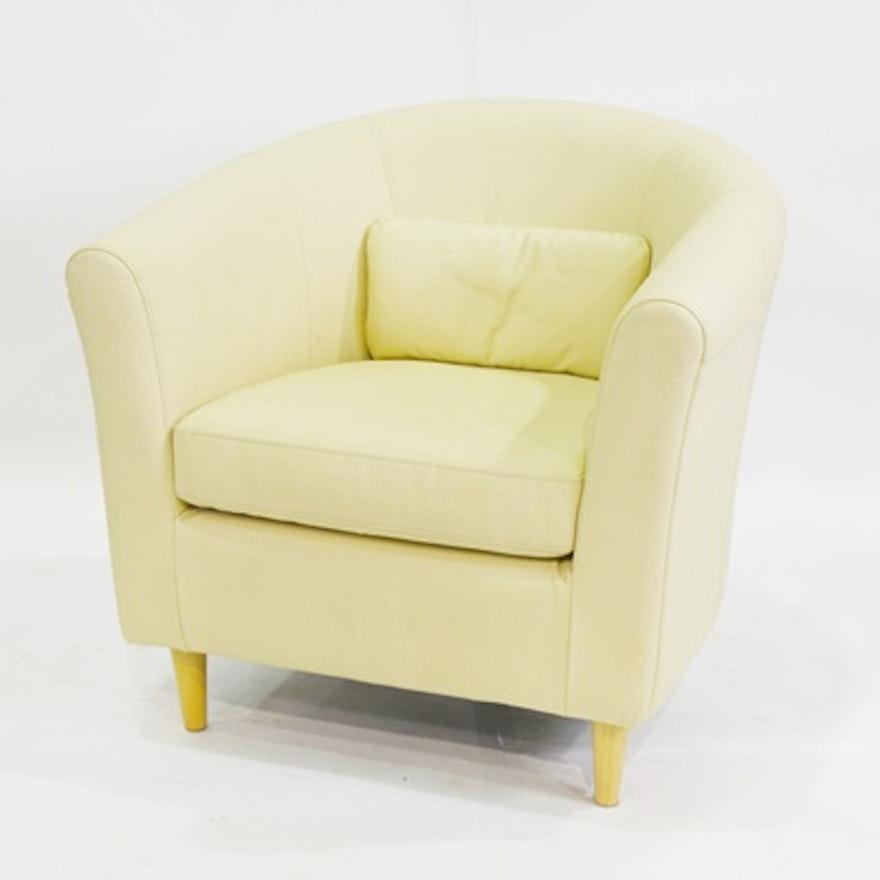 Ikea Tullsta Leather Barrel Chair | EBTH