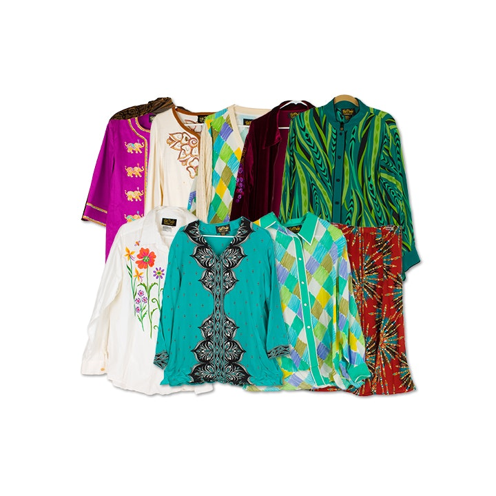 Bob Mackie Wearable Art Shirts and Jackets