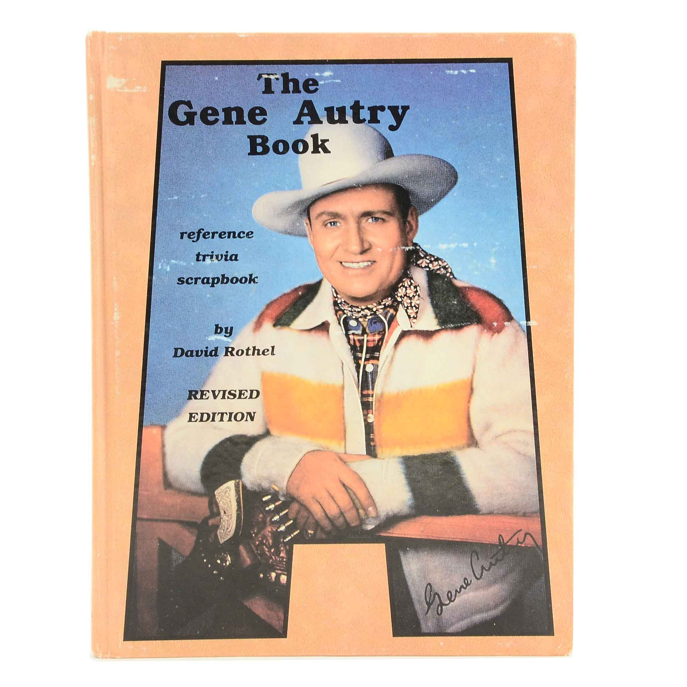 "Signed ""The Gene Autry Book"" Reference Trivia Scrapbook"