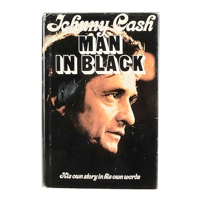 """Signed First Edition Johnny Cash """"The Man in Black"""""""