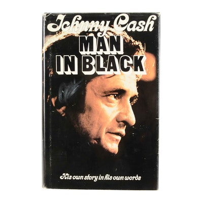 "Signed First Edition Johnny Cash ""The Man in Black"""