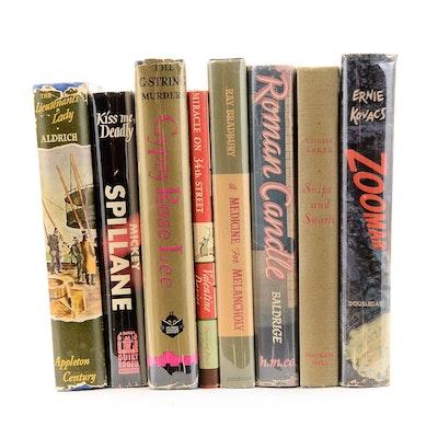 Vintage Signed Mid Century Novels including Bradbury and Davies