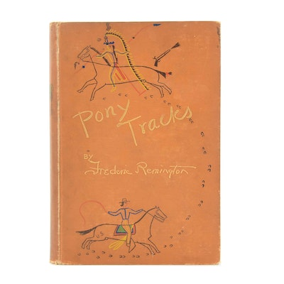 "1895 First Edition ""Pony Tracks"" by Frederic Remington"