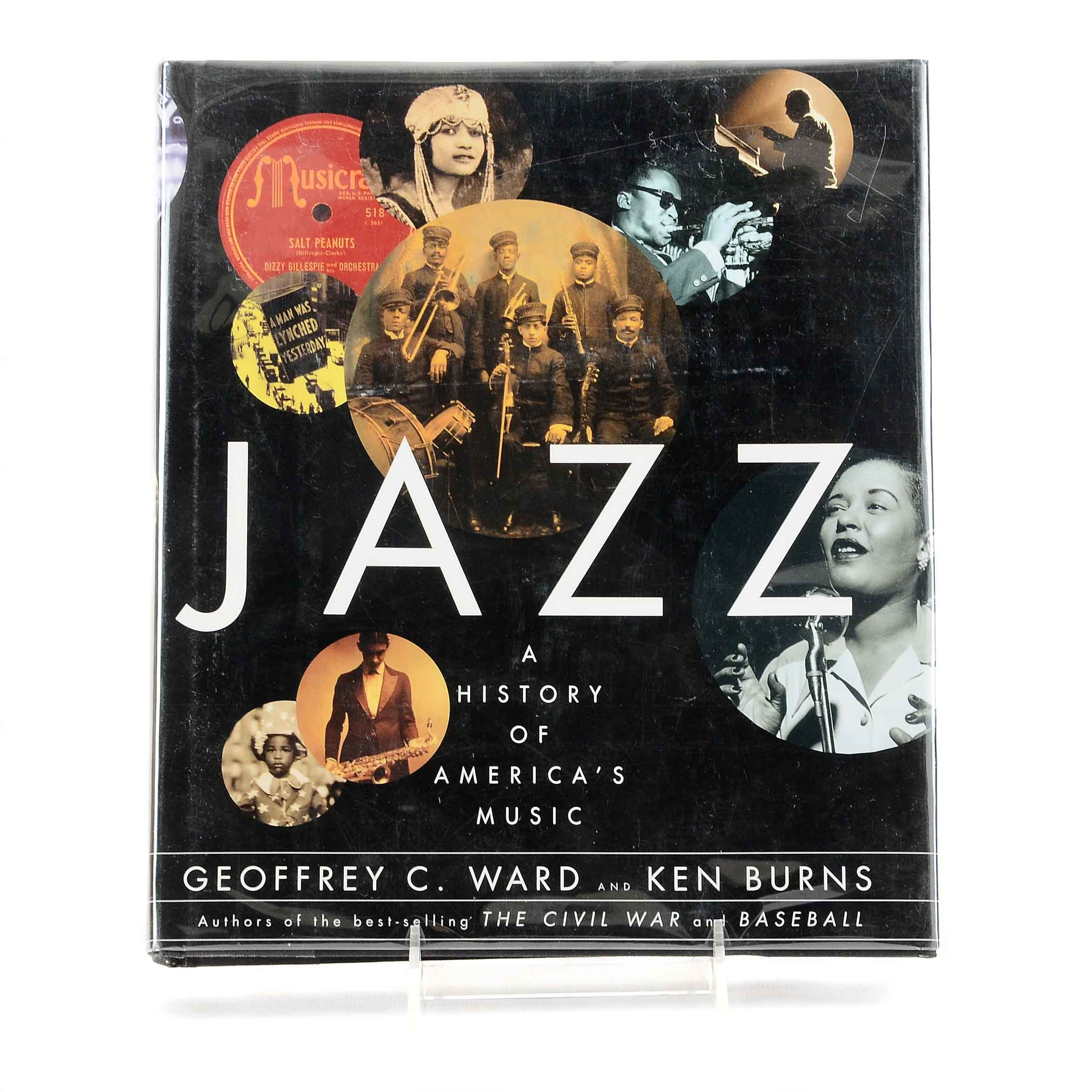 "Ken Burns Signed ""Jazz"" Coffee Table Book"