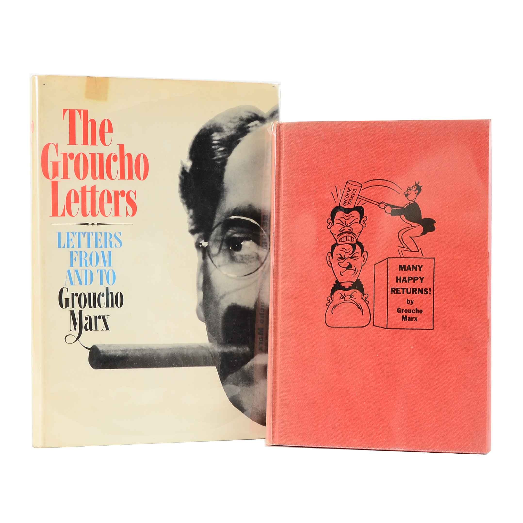 Signed Vintage Groucho Marx Books