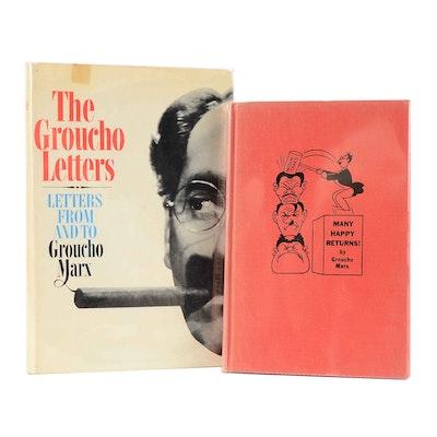 Signed Vintage Groucho Marx Books